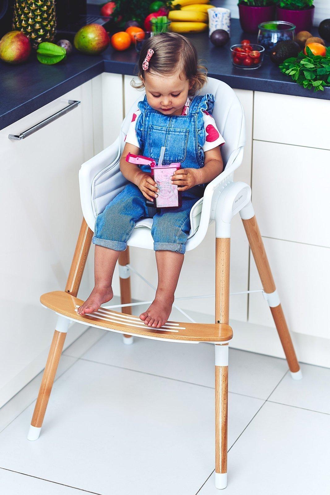 Dwupoziomowe krzesełko do karmienia Moby-System MAGGIE